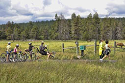 biking in sunriver
