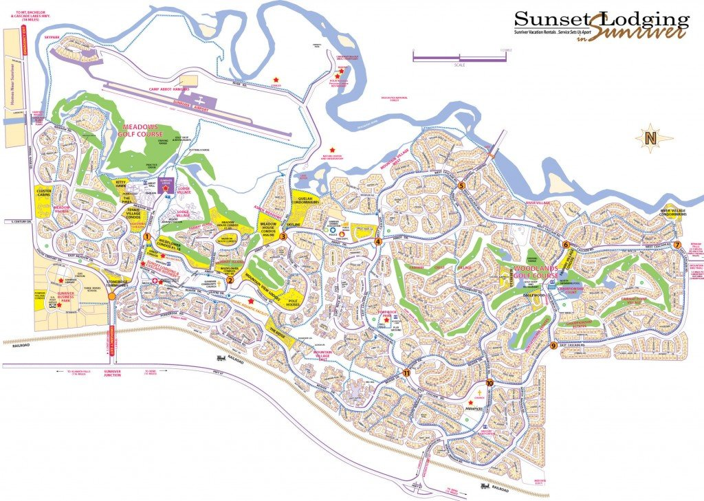 Sunriver map