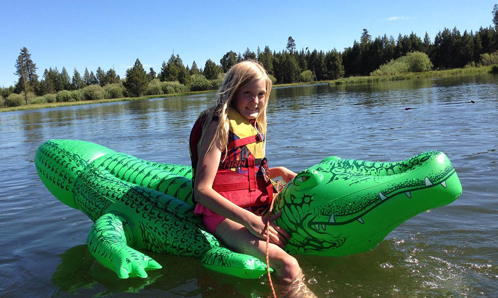 Emma floating the Deschutes River