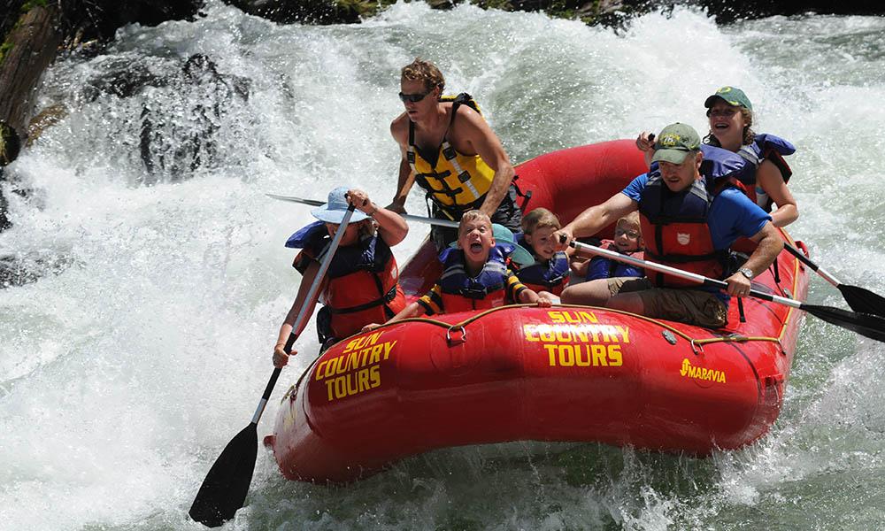 rafting sunriver