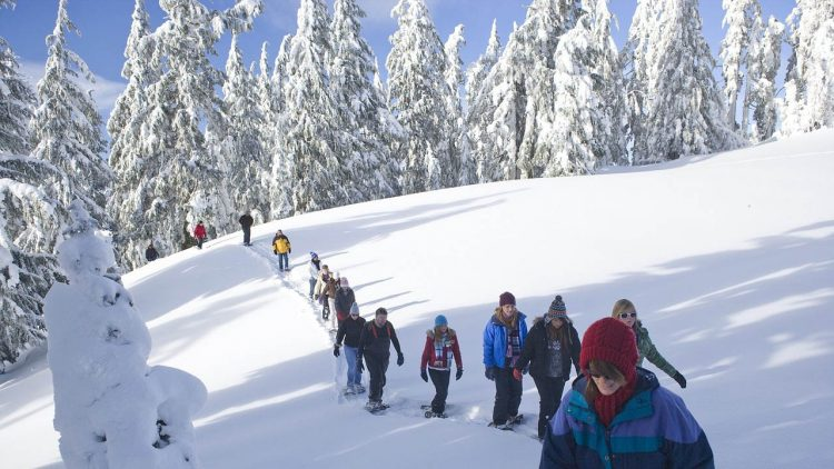 Snowshoeing near Sunriver