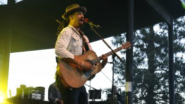 Michael Franti performs at the Les Schwab Amphitheater in 2018