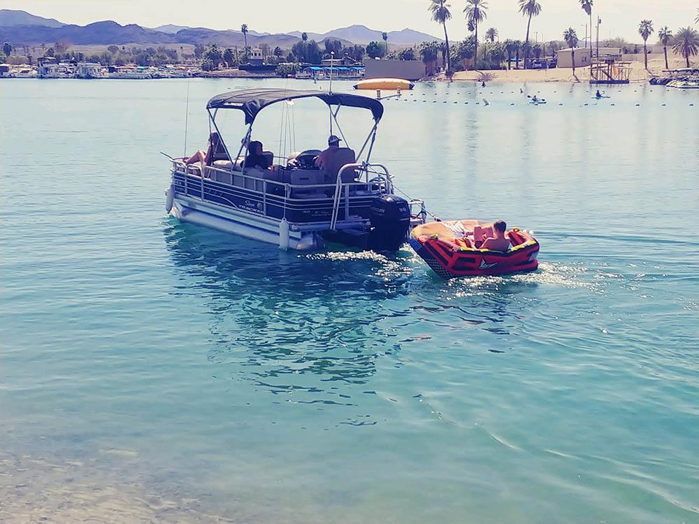 fishing barge rental in sunriver